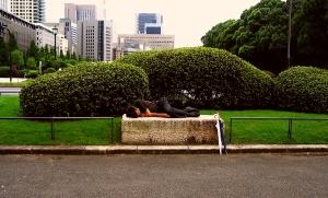 Homeless and asleep in Tokyo_Photo from Lauren Sherritt