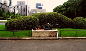 Homeless and asleep in Tokyo_Photo from Lauren Sherritt