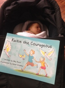 Amaya with Courageous book