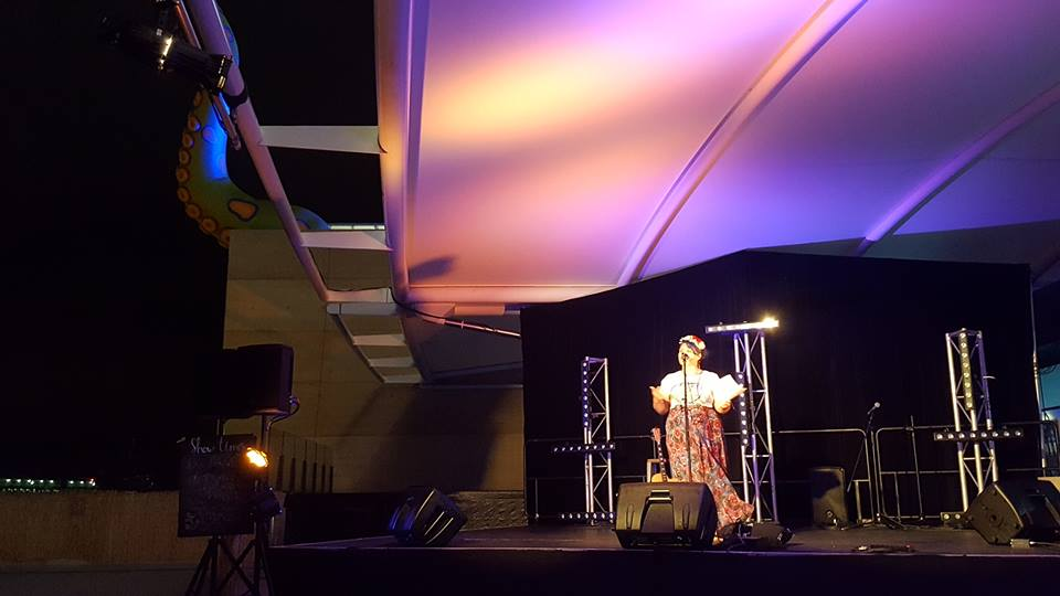 Alysha performing at Adelaide Oval 2017